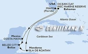 United States, Mexico, Belize, Honduras, Bahamas