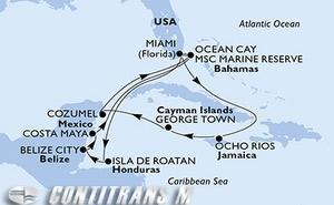 United States, Honduras, Belize, Mexico, Bahamas, Jamaica, Cayman Islands