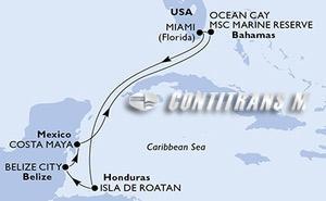 United States, Honduras, Belize, Mexico, Bahamas