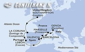 United Kingdom, Spain, Portugal, France, Italy