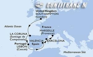 United Kingdom, Spain, Portugal, France