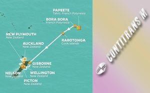 JR 15-NIGHT TAHITI & NEW ZEALAND VOYAGE