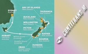 JR 15-NIGHT NEW ZEALAND & AUSTRALIA VOYAGE