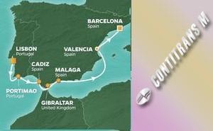 Лисабон, Севиля, Барселона, Гибралтар