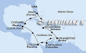 United States, Jamaica, Aruba, Colombia, Panama, Mexico