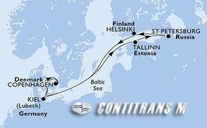 Denmark, Estonia, Russian Federation, Finland, Germany