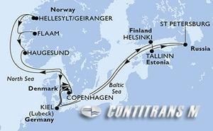 Germany, Denmark, Finland, Estonia, Russian Federation, Norway