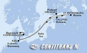 Denmark, Finland, Estonia, Russian Federation, Germany