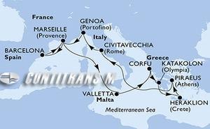 Spain, France, Malta, Greece, Italy