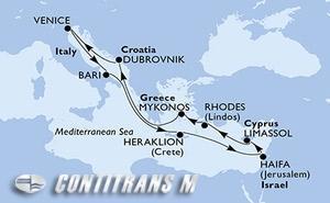 Italy, Greece, Israel, Cyprus, Croatia