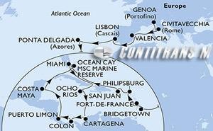Italy, Spain, Portugal, Barbados, Martinique, St. Maarten, Puerto Rico, United States, Jamaica, Colombia, Panama, Costa Rica, Mexico, Bahamas
