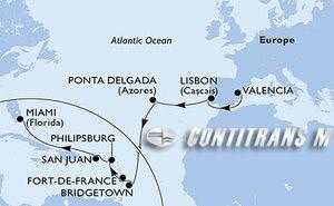 Spain, Portugal, Barbados, Martinique, St. Maarten, Puerto Rico, United States