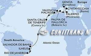 Italy, Spain, Brazil