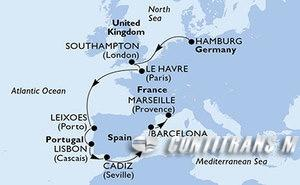Germany, United Kingdom, France, Portugal, Spain