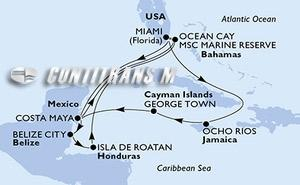 United States, Jamaica, Cayman Islands, Mexico, Bahamas, Belize, Honduras