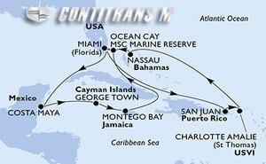 United States, Mexico, Cayman Islands, Jamaica, Bahamas, Puerto Rico, Virgin Islands (U.S.)