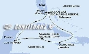 United States, Mexico, Cayman Islands, Jamaica, Bahamas
