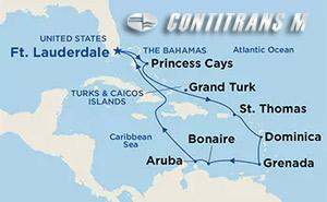 Southern Caribbean with Curacao on Crown