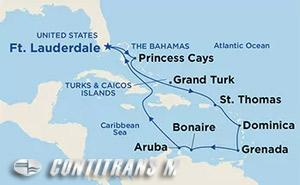 Southern Caribbean with Aruba  on Crown
