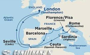 Western Mediterranean 14 day on Sapphire