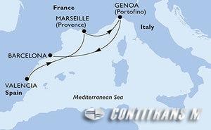 Spain, France, Italy