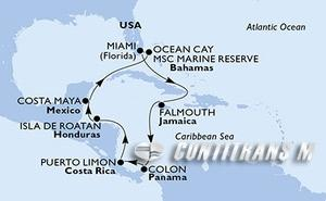 United States, Jamaica, Panama, Costa Rica, Honduras, Mexico, Bahamas