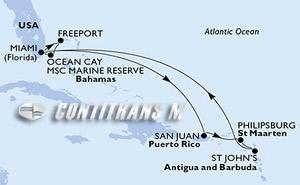 United States, Bahamas, Puerto Rico, St. Maarten, Antigua and Barbuda