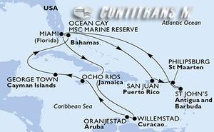 United States, Puerto Rico, St. Maarten, Antigua and Barbuda, Aruba, Jamaica, Cayman Islands, Bahamas