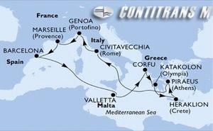 Italy, France, Spain, Malta, Greece