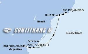 Brazil, Uruguay, Argentina