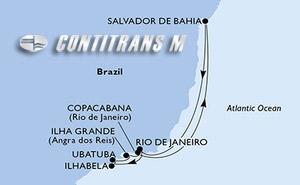 Rio de Janeiro, Ilhabela, Ubatuba, Ilha Grande, Copacabana, Salvador, Rio de Janeiro