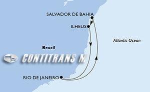 Rio de Janeiro, Salvador, Ilheus, Rio de Janeiro