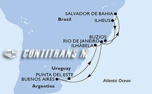 Brazil, Argentina, Uruguay