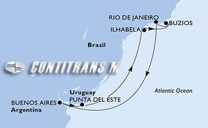 Argentina, Uruguay, Brazil
