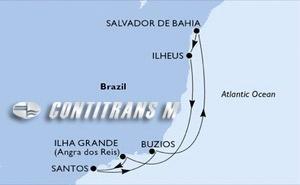 Santos, Buzios, Salvador, Ilheus, Ilha Grande, Santos