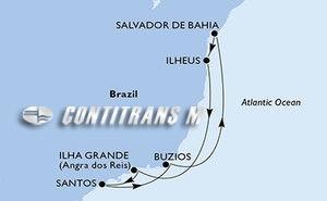 Salvador, Ilheus, Ilha Grande, Santos, Buzios, Salvador