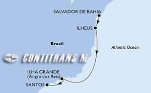 Salvador, Ilheus, Ilha Grande, Santos