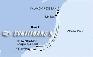 Santos, Salvador, Ilheus, Ilha Grande, Santos