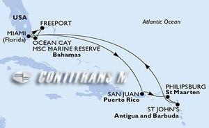 United States, Jamaica, Aruba, Colombia, Panama, Mexico, Bahamas