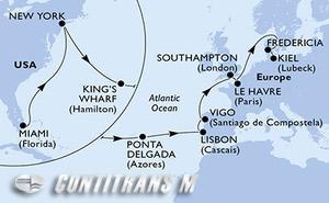 United States, Bermuda, Portugal, Spain, United Kingdom, France, Denmark, Germany