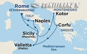 Mediterranean Roundtrip on Sky