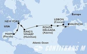 United States, Bermuda, Portugal, Spain