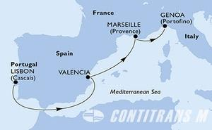 Portugal, Spain, France, Italy