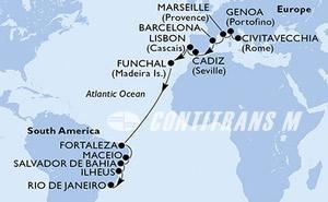 Italy, France, Spain, Portugal, Brazil