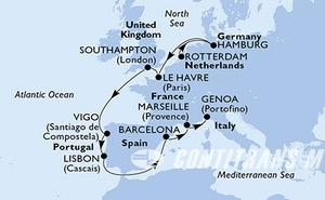 Netherlands, Germany, France, United Kingdom, Spain, Portugal, Italy