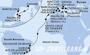 France, Spain, Italy, Brazil