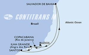 Santos, Salvador, Copacabana, Buzios, Ilha Grande, Santos
