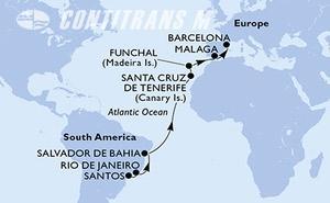 Brazil, Spain, Portugal