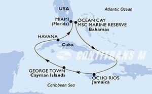 United States, Bahamas, Jamaica, Cayman Islands, Cuba
