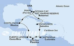 United States, Jamaica, Colombia, Panama, Costa Rica, Mexico, Bahamas